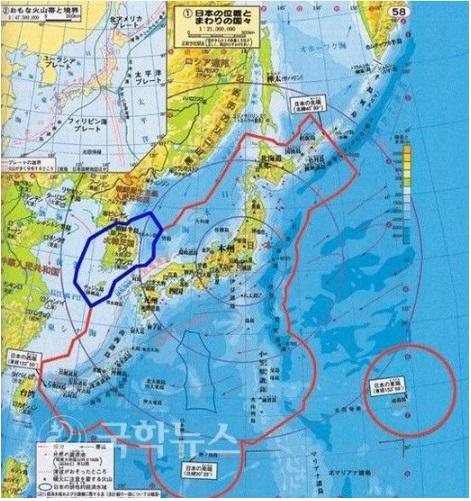 日本周りの地図