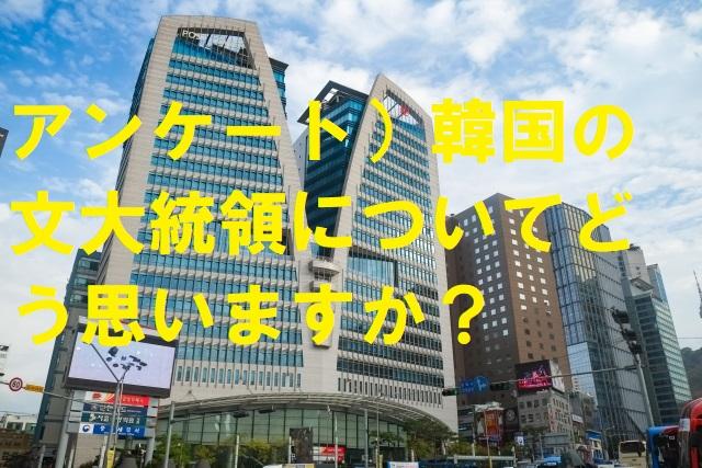 アンケート)韓国の文大統領についてどう思いますか?