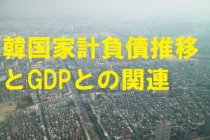 韓国の家計負債の推移とGDPとの関係