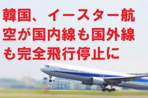 韓国、イースター航空が国内線も国外線も完全飛行停止に