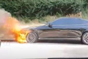 現代自動車ジェネシスG80の火災事故